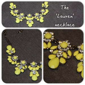The 'Lauren' necklace is a little brighter than my usual choice, but perfect with simple outfits