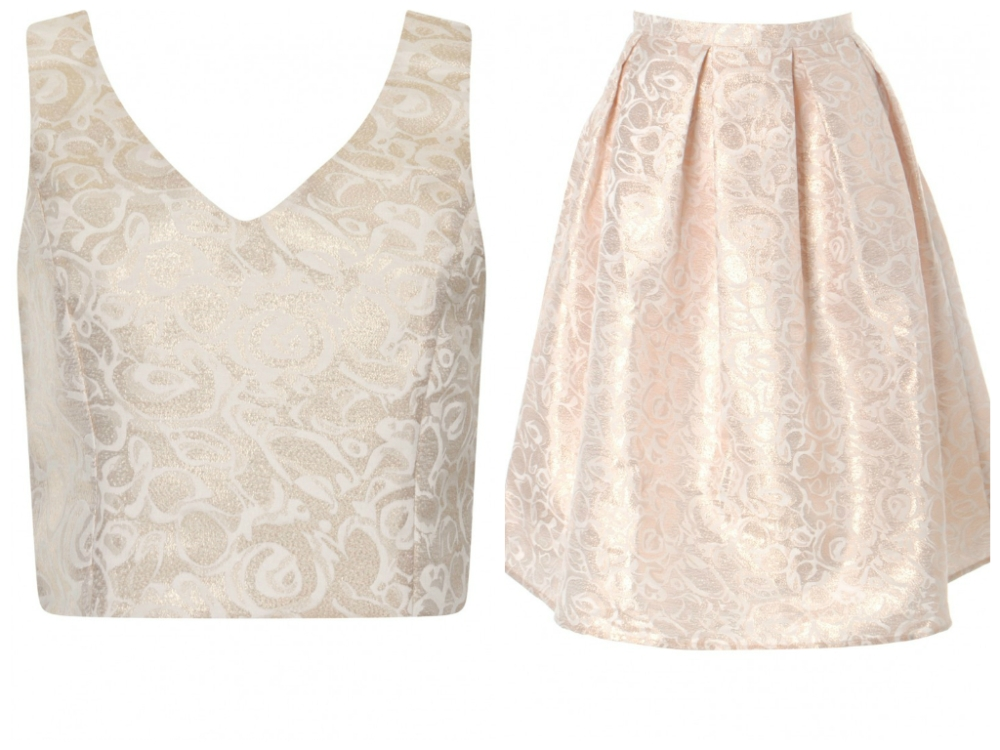 Two piece by Gorgeous Clothing - Crop top £21; Skirt £36