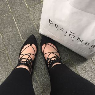 New Look Black Strappy flats, £24.99