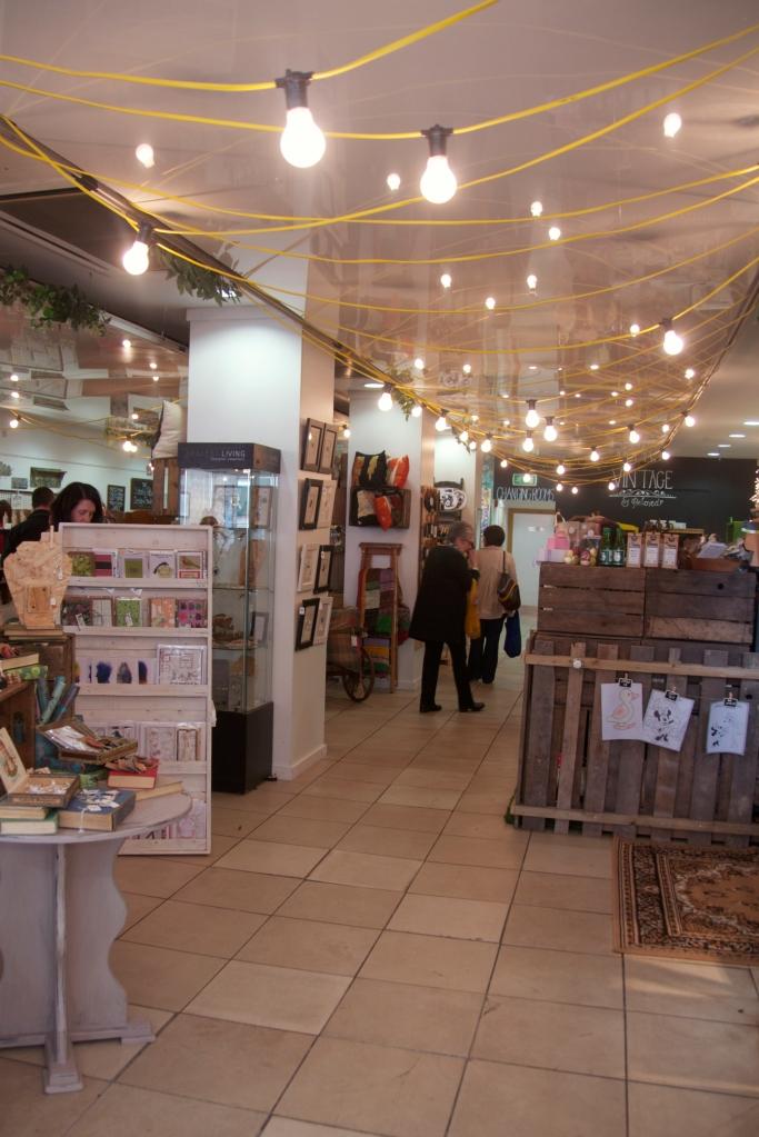Busy shoppers in Studio Souk, Castle Lane, Belfast