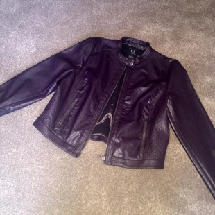 Purple leather jacket by Armani Exchange at the OUTLET Bainbridge