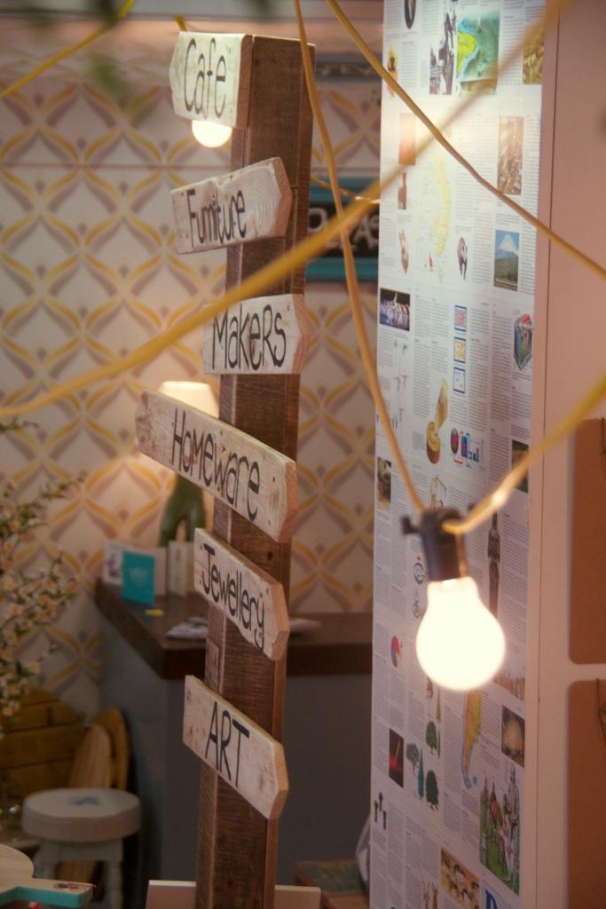 Hanging bulbs at Studio Souk, Castle Lane, Belfast