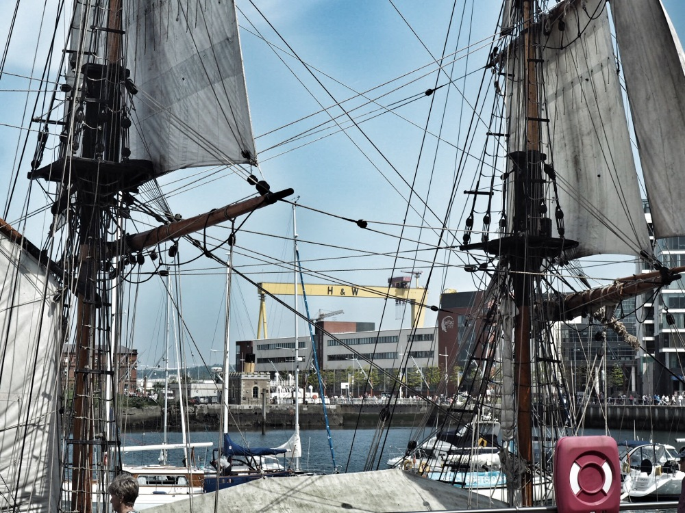Belfast Titanic Maritime Festival and Crane
