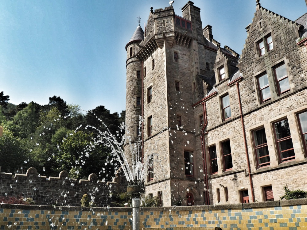 Belfast Castle with fountain